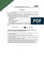 Prova PROSEL 2008- Medio e Tecnico Concomitante