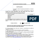 Prova PROSEL 2008- Tecnico Subsequente