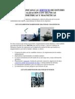 EMPRESAS DEDICADAS AL SERVICIO DE ESTUDIO Y LOCALIZACIÓN CON TECNICAS GRAVIMETRICAS Y MAGNETICAS