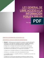 PDF Ley de Libre Acceso a la Información Pública