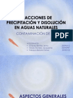 Reacciones de Precipitacion y Disolucion en Aguas Naturales . Final