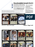Decipher's Wars CCG - 1 Sample Demo Deck A