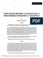 Aspectos de Historia y Ecologia de La Biodiversidad Norandina y Amazonica