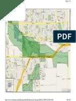 Longmont evacuation areas as of 5:50 p.m. Sunday, Sept. 15, 2013