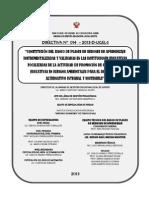 Directiva n 14 Banco de Sesiones Ugel Satipo 2013