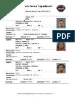 public arrest report for 9-15-2013