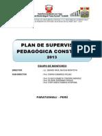 PLAN DE SUPERVISIÓN PEDAGÓGICA CONSTANTE 2013