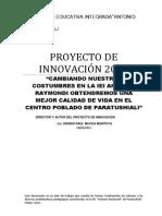 Proyecto de Innovacion 2013-Walter