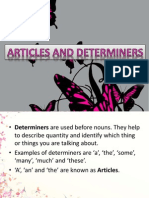 articles and determine