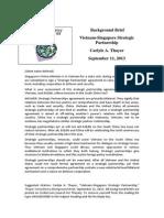 Thayer Vietnam-Singapore Strategic Partnership
