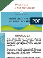 WAJ 3105 Literasi Nombor Tutorial