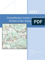 Groundwater Levels in the Annapolis Valley