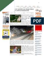 SiteBarra » Motorista do caminhão que atingiu ônibus da Gontijo continua desaparecido