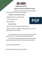 COMISSÃO EXECUTIVA DA IX JORNADA JURÍDICA