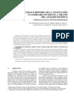paleoclimas e historia de la vegetacion cuaternaria en españa a traves del analisis polinico