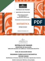 Matemática 10°-2013