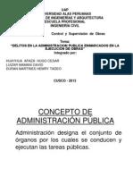 Trabajo de Delitos Contra La Administracion Publica