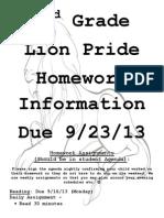 homework due 9-23-13