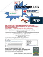 Great Adventure Entry Form 2013