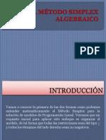 EL MÉTODO SIMPLEX ALGEBRAICO