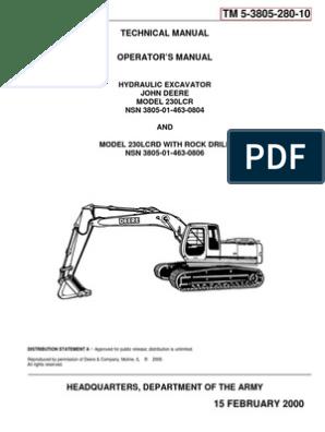 TM 5-3805-280-10 JOHN DEERE MDL 230LCR HYEX | Diesel Engine