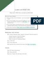 STAT 310 Syllabus
