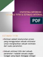 Statistika-Inferensi