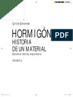 Hormign. Historia de Un Material