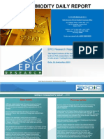 Weekly Commodity Report 16 SEP 2013 by EPIC RESEARCH