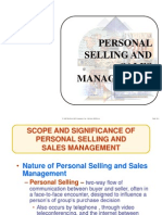 Personal Selling & Sales Management