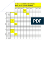 Horarios Ing. Sistemas 2013-II IV Ciclo