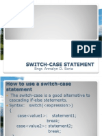 Switch-case Statement Lec6