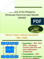 Overview of the Philippine Wholesale Electricity Spot Market