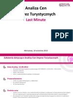 Analiza Cen Imprez Turystycznych (16.09.13)
