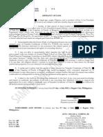Sample Affidavit of Lost Title