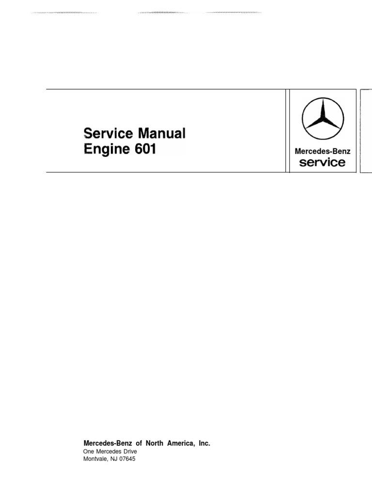 om601 servisn manul screw internal combustion engine rh scribd com om 601 service manual
