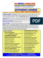 Energy Efficiency Management Course
