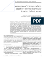 Corrosion of Marine Carbon Steel by Electrochemically Treated Ballast Water