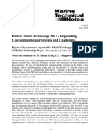 Ballast Water Technology Inpending Challenges