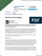 Memories of a Cisco Router - Dan DiNicolo - 2000Trainers.com