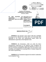 COMELEC - Efficient Use of Paper Rule