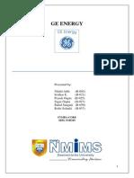 GE Energy Report