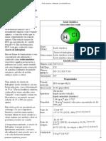 Ácido clorídrico – Wikipédia, a enciclopédia livre