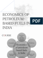 A presentation on the economics of oil and other fuels in India