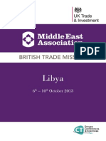 MEA Multi Sector Trade Mission to Libya 6-10 October 2013