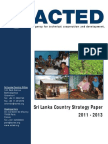 Sri Lanka Country Strategy Paper 2011 - 2013 - Acted