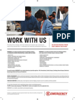 WORK WITH US - Who we need (2014)