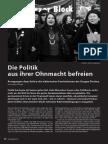 Antje Schrupp Die Politik Aus Ihrer Ohnmacht Befreien Diotima