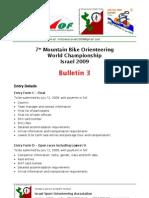 WOC Bulletin 3 27Jun09