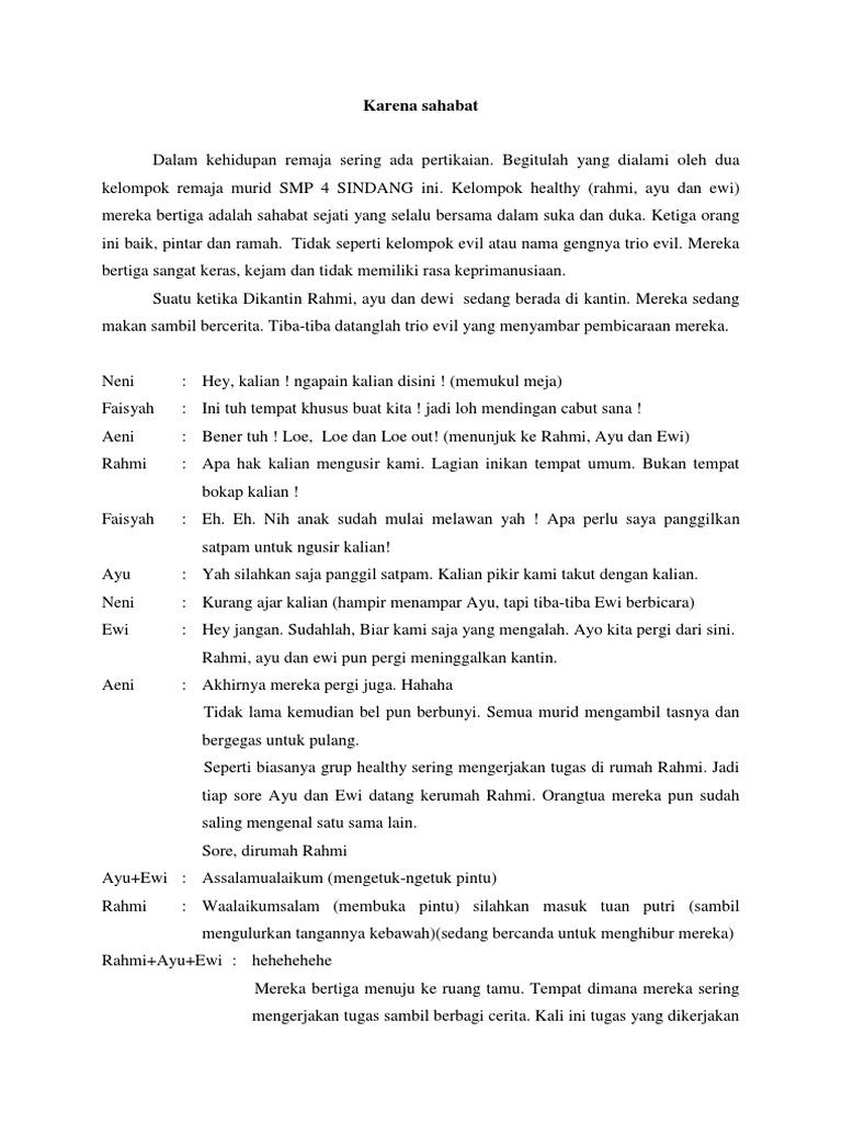 Naskah Drama Pendek 6 Orang Tentang Persahabatan Brad Erva Doce Info